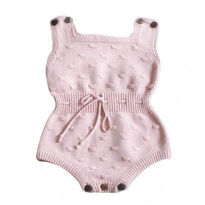 Cute Newborn Baby Girls Knitted Sleeveless Halter Toddler Strap Jumpsuit Clothes Romper Outfit knitted romper baby boy JD Loviny-eosegal