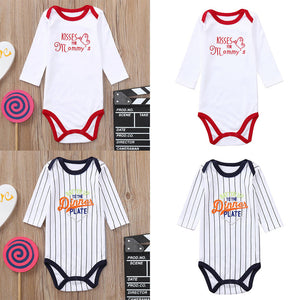 MUQGEW Jumpsuit Newborn Toddler Infant Baby Boys Girls Clothes Long Sleeves Letter Print Romper Jumpsuit roupas de bebe-eosegal