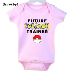 New Baby Rompers Newborn Infant Baby Boy Girls Summer Clothes Cute Cartoon Pokemon Go Printed Romper Jumpsuit Climbing Clothes-eosegal