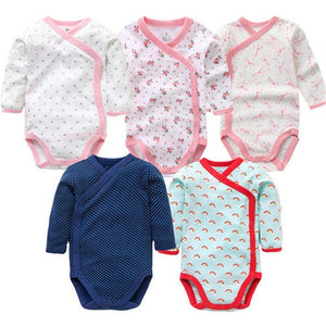 5 PCS/LOT Baby Bodysuits Autumn Newborn 100% Cotton Body Baby Long Sleeve Underwear Infant Jumpsuits Boys Girls Pajamas Clothes-eosegal