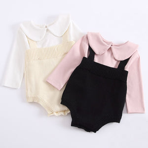 1-3Yrs Baby Knitting Climbing Suits 2018 Autumn Newborns Romper Baby Girl Clothes Rompers Brand Cotton Boy Black Baby Romper-eosegal