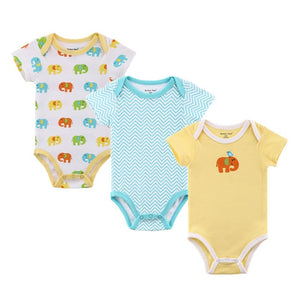 100% Cotton Baby Bodysuit Short Sleeve Newborn Baby Underwear Autumn Infant Boy Girls Pajamas Clothes 0-12M-eosegal