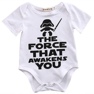 New HOT Newborn Star Wars Baby unisex short sleeves Clothes Cotton Cotton Bodysuit Playsuit Sunsuit Outfits-eosegal