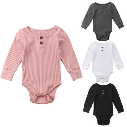 Newborn Baby Boy Girls Clothing Knit Clothes Jumpsuit Bodysuit Long Sleeve Cute Warm Cotton Playsuit Outfits Clothing Baby 0-24M-eosegal