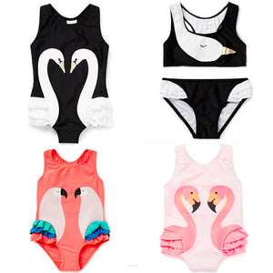st.rafina 2018 Summer Bobo Choses Animal Cartoon Baby Girls one-piece swimwear Swan Girl Swimsuit kids bathing suits for girl-eosegal