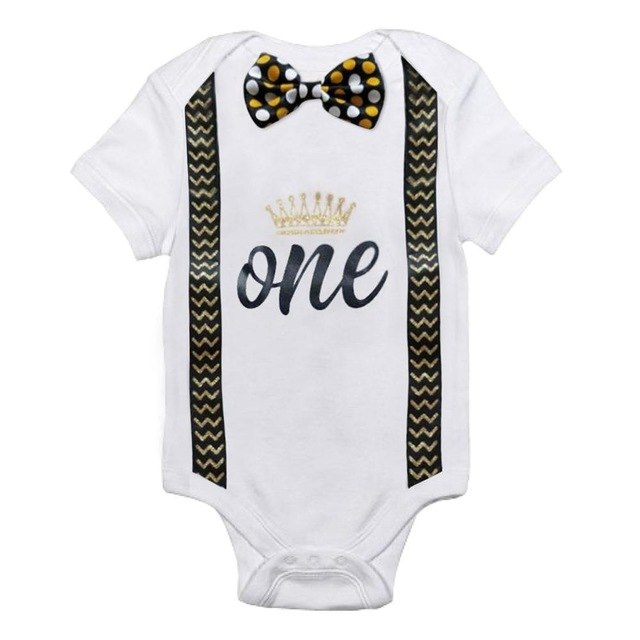 I'm 1 One Little Boy Toddler Newborn Romper Pajamas Jumpsuit Sleeper Baby Clothes Bebe Clothing Kids Baby Body Rompers 9 12M-eosegal