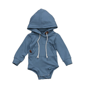 Baby Boys Brother Sky Blue Hoodie Sweatshirt Hooded Long Sleeve Tops Romper Jumpsuit Clothes Spring Autumn New-eosegal