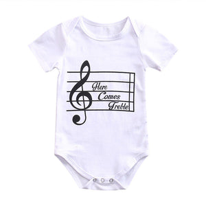 2017 Baby Girl Boy Summer Clothes New Born Body Baby Musical symbols Jumpsuit Baby Bodysuit-eosegal
