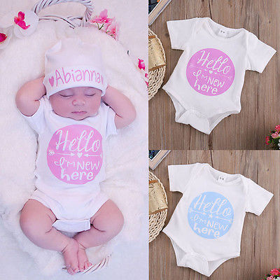 2016 Casual Toddler Kids Baby Girl Boy Clothes Bodysuit Jumpsuit Outfits 0-12M-eosegal
