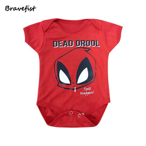 Cartoon Baby Summer Rompers Red Dead Drool Style Short Sleeve Child Clothing 0-24Months Infant Jumpsuit Short Ssleeve Outfit-eosegal