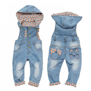 Baby Girls Rompers Spring Infant Jeans Denim Overalls Bebe Girl Jumpsuits Toddler Cowboy Clothes Kids Cute Suspender Clothing-eosegal