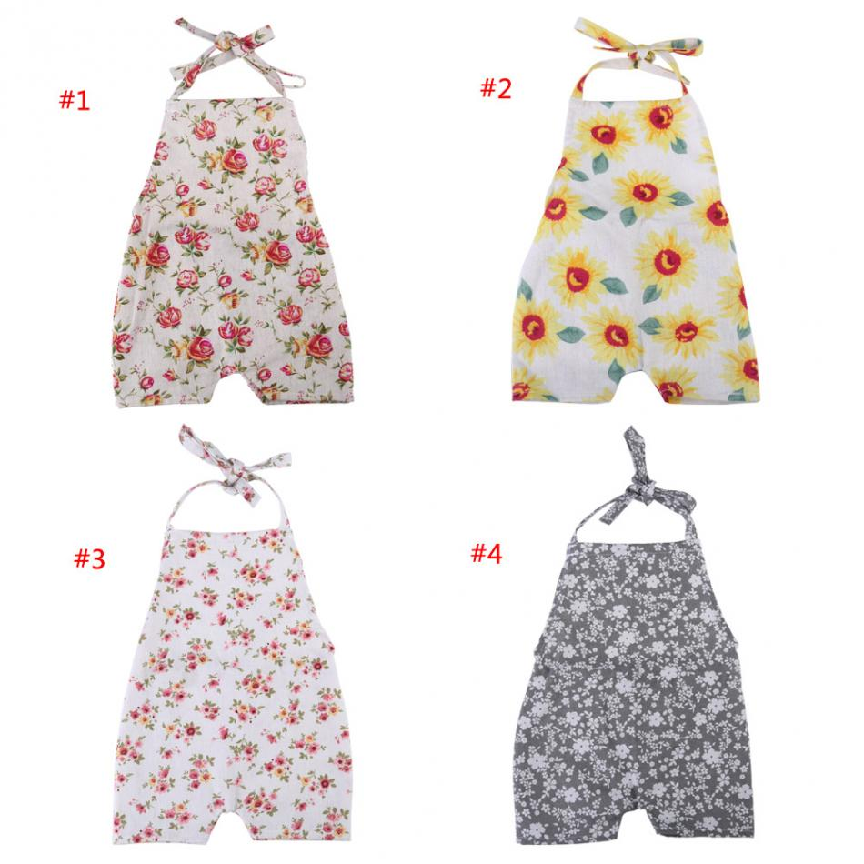 Baby Rompers 2018 Lovely Cotton & Linen Breathable Floral Print Baby Boy & Girl Rompers Newborn Rompers Photography Photo Props-eosegal