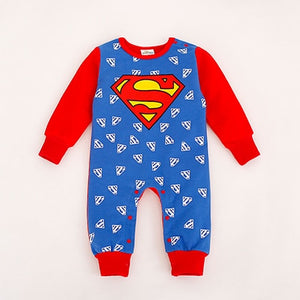 New Style Baby Boy Romper Newborn Baby Clothes Cute Hero Style Superman Batman Spider-man Captain America Bebe 1pcs HB032-eosegal