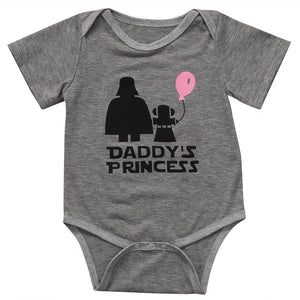 New Casual Cute Newborn Baby Girl Clothes Print Letter daddy's princess Romper Short Sleeve Jumpsuit Clothes Outfits-eosegal