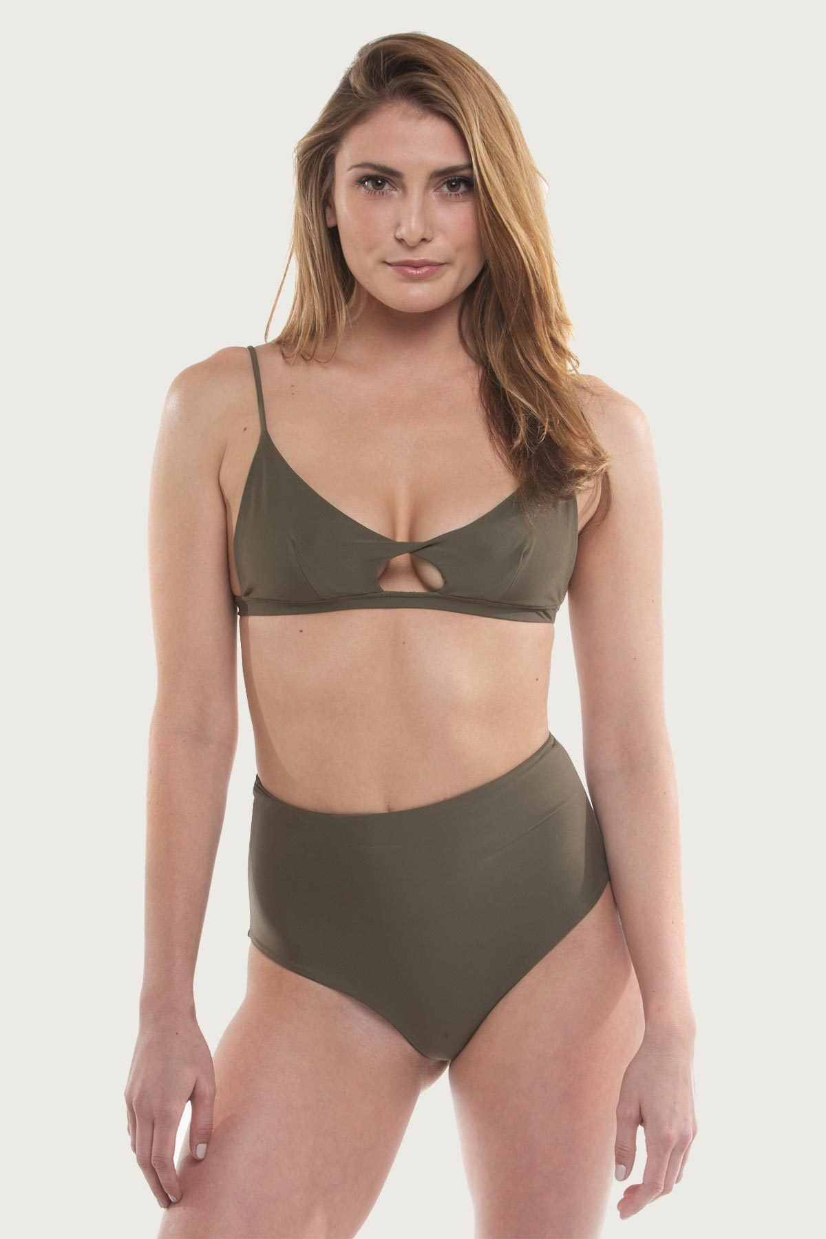 The Jetty Top - Olive Green - The Bikini Movement