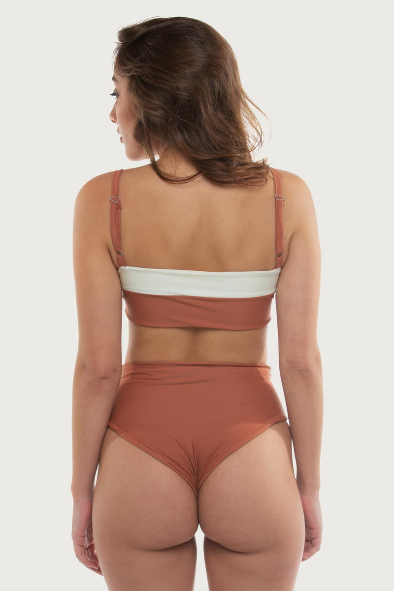 Pipes Top - Burnt Blush - The Bikini Movement