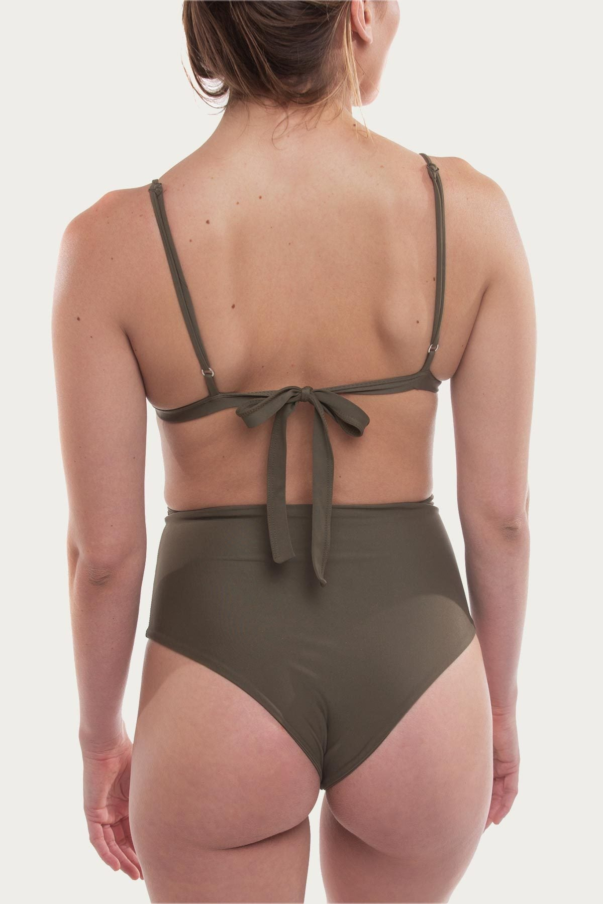 Swamis Bottom - Olive Green - The Bikini Movement