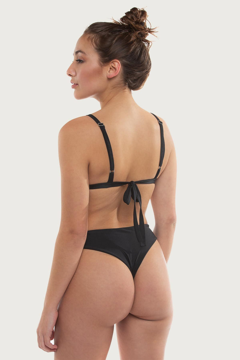 Tourmaline Top - Black - The Bikini Movement