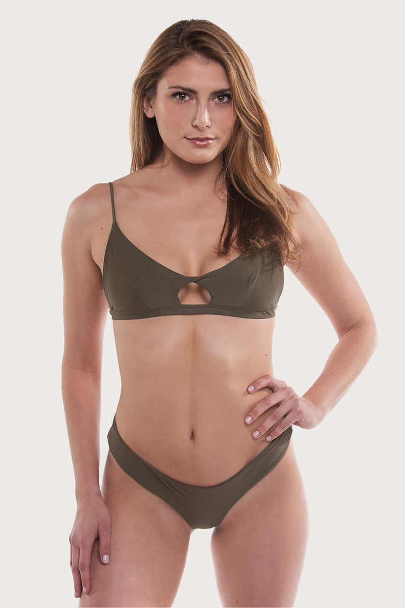 Blacks Bottom - Olive Green - The Bikini Movement