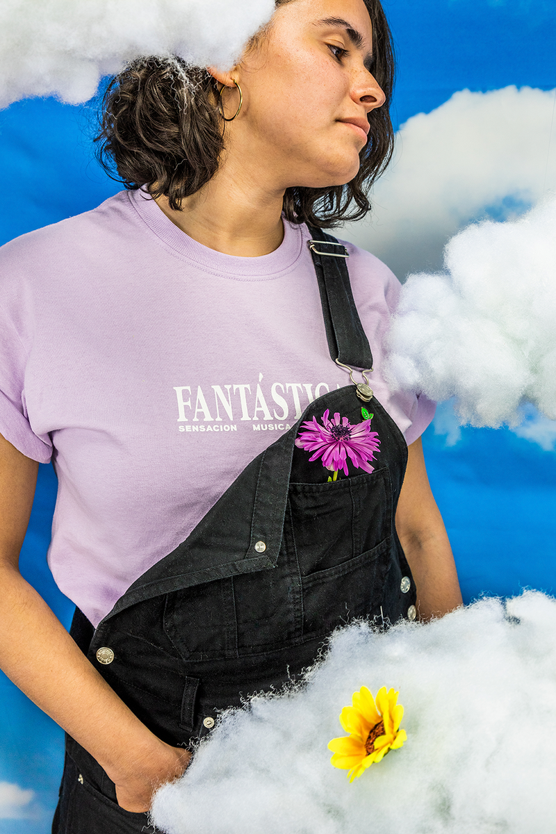 Alana Questell wearing TMD FANTASTICA t-shirt