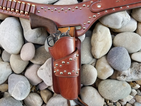 silver studded holster collar