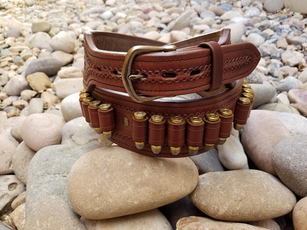 hand tooled western gun belt