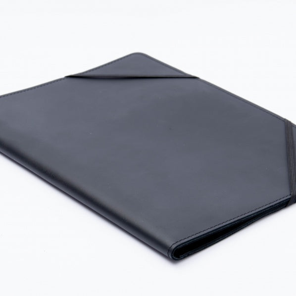 Leather Document Folder - Black