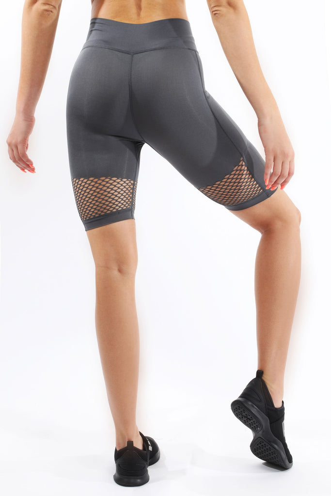 Malibu Seamless Activewear  Gray Compression Shorts - My Luxury Intimates