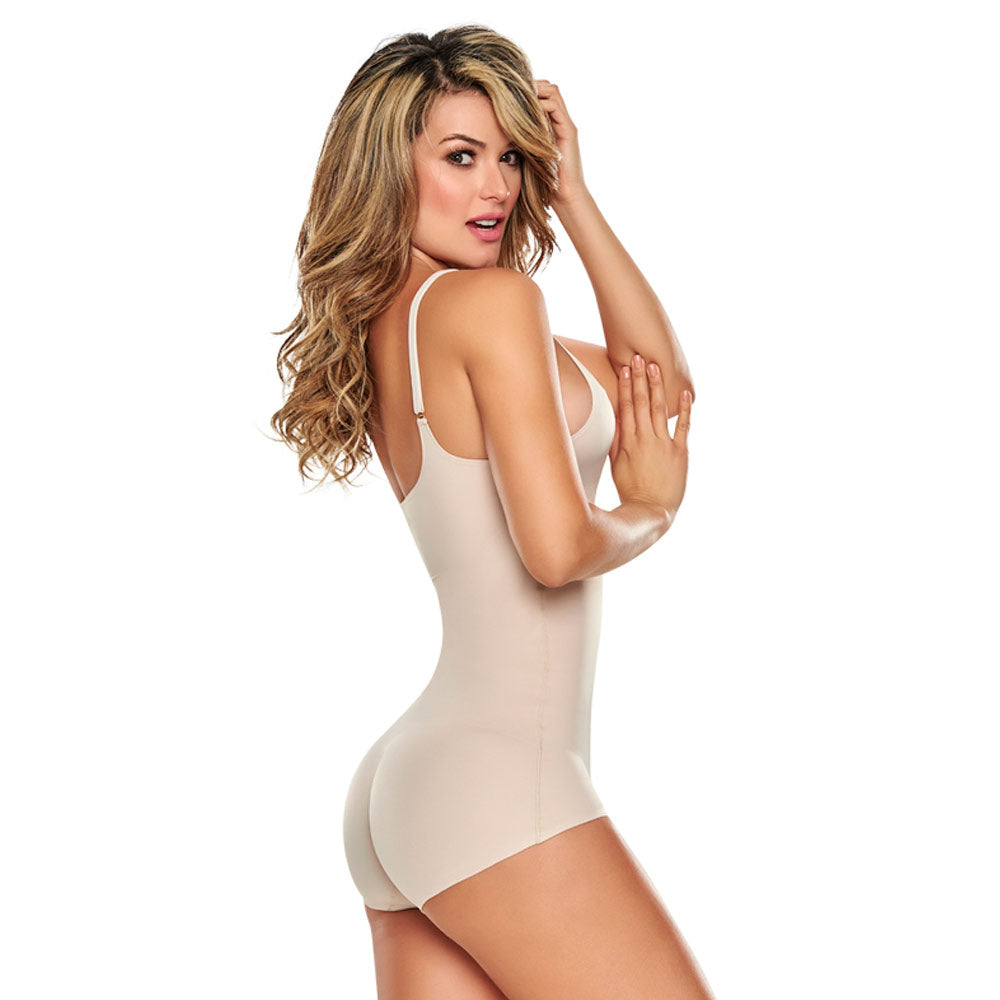 TrueShapers 1280 Truly Invisible Bodysuit Shaper with Deep V Plunge Neck - My Luxury Intimates