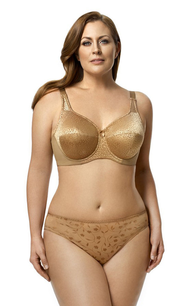 Elila Leopard Lace Full Coverage Underwire Bra