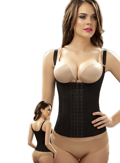 Fajas Reductoras Black Latex Renee Waist Trainer Vest - My Luxury Intimates