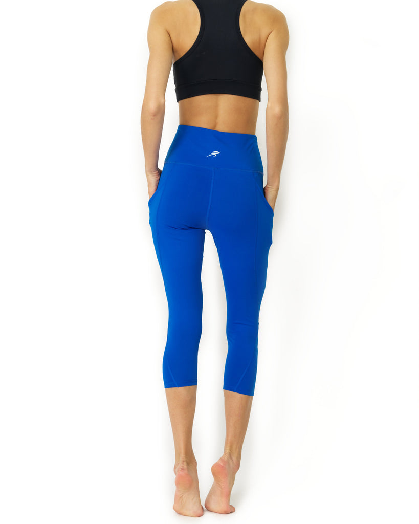 High Waisted Sky Blue  Yoga Capri Leggings - My Luxury Intimates