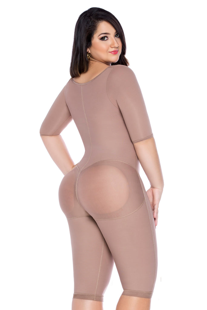 Front Zipper Melibelt Post-Surgery Full Bodysuit Powernet Shaper