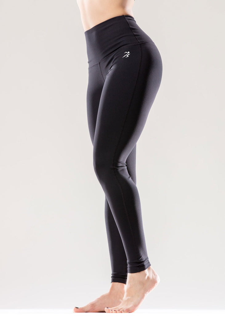 Puissante High-Waisted Full-Length Black Leggings - My Luxury Intimates