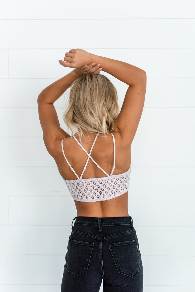 Match Made in Heaven Light Pink Lace Crocheted Bralette - My Luxury Intimates