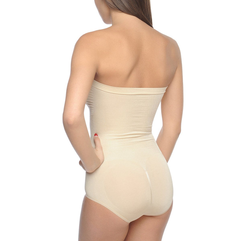 Seamless Strapless Slimming Nude Bodysuit - My Luxury Intimates