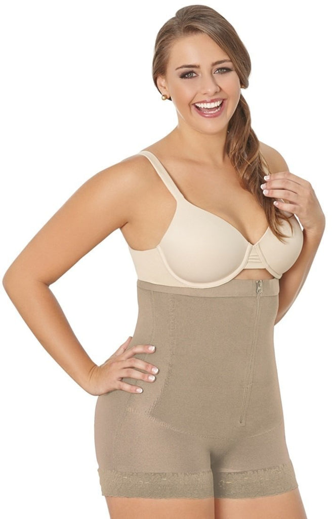 Long Waist Thermal Firm Compression Plus Size Girdle - My Luxury Intimates