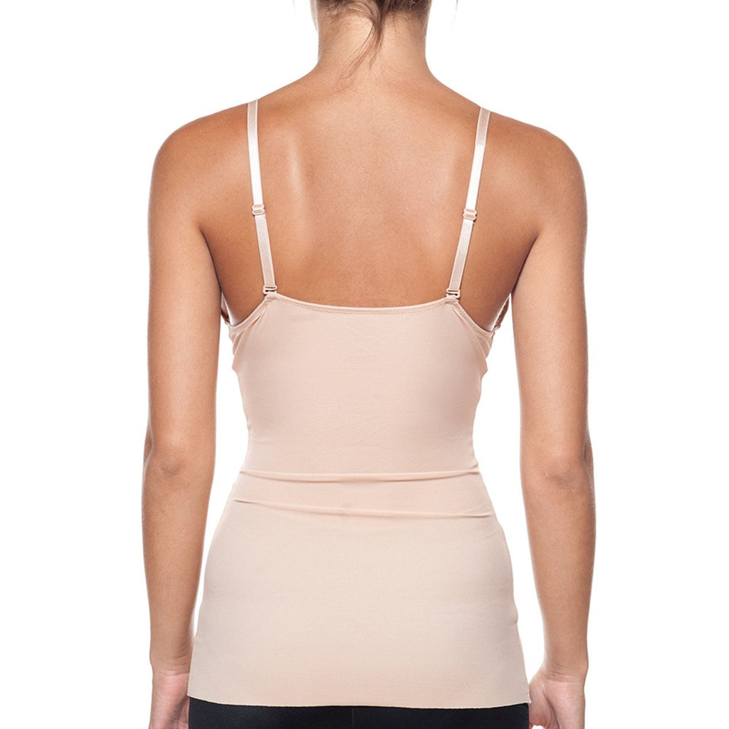 Body Beautiful Women's Smooth and Silky Slimming Top With Sexy Lace Nude - My Luxury Intimates