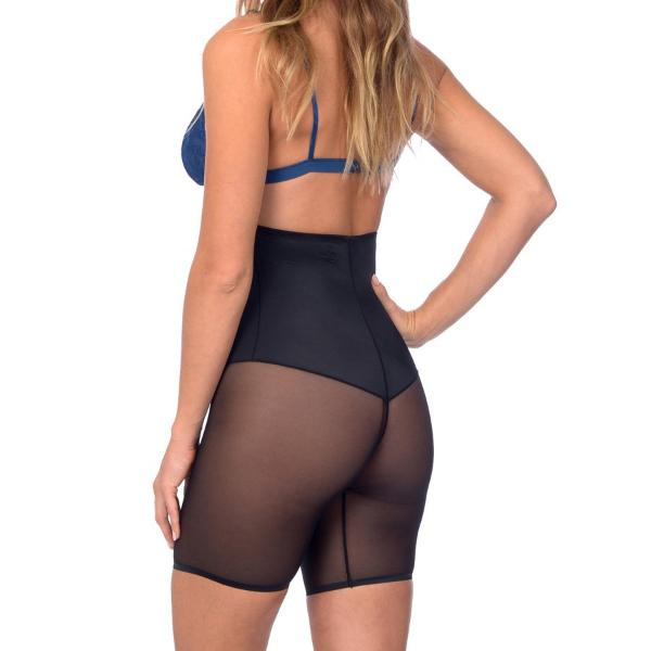 Extra Hi Waist Shaper With Targeted Double Front Panel for Smooth Shaping Black