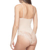 Plus Size Smooth and Silky Bodysuit Shaper With Built-In Wire Bra - My Luxury Intimates