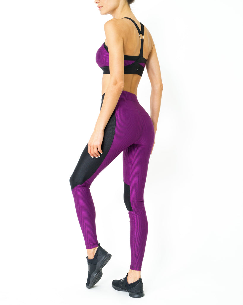 High Waist Contrast Yoga Workout Sports Leggings - My Luxury Intimates