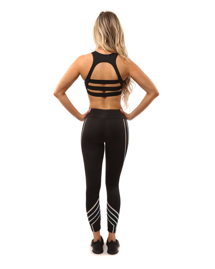 Black Laguna Sculpting Sports Leggings - My Luxury Intimates