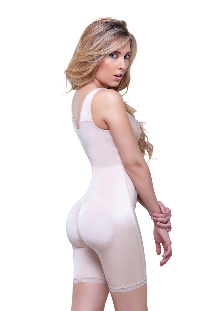 Celeste Post-Surgery Front Zipper Compression Bodysuit - My Luxury Intimates