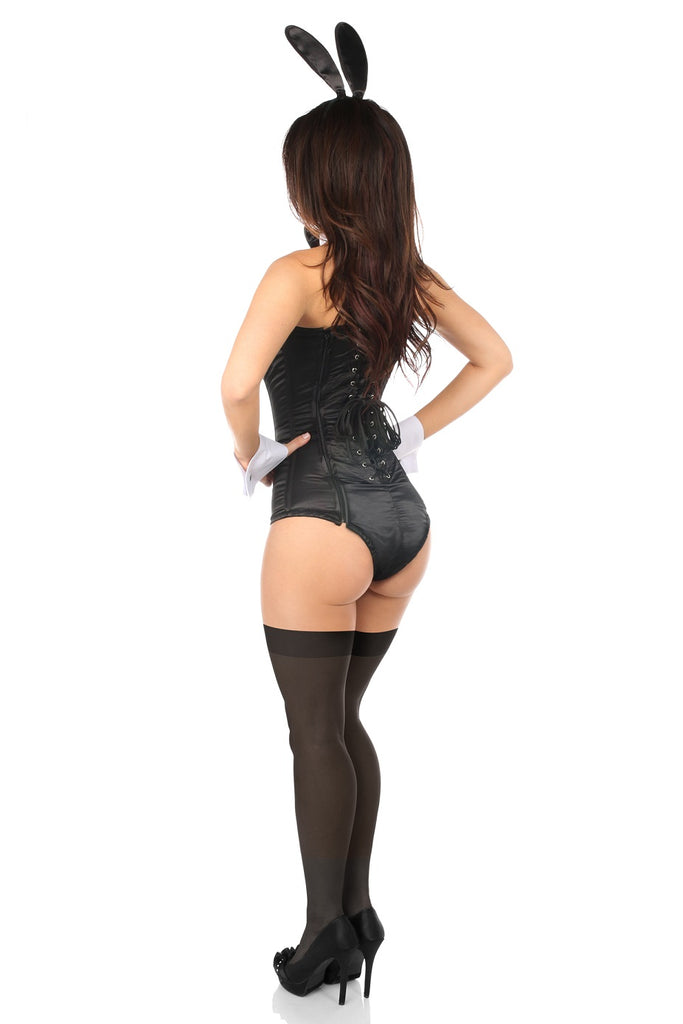 Lavish Tuxedo Bunny Corset Black Romper Costume - My Luxury Intimates
