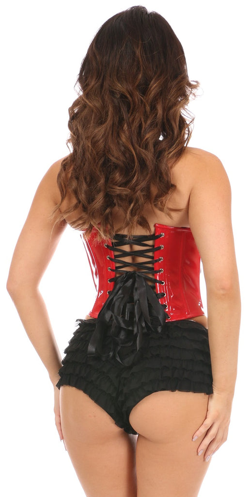 Lavish Red Patent Leather Bustier Top - My Luxury Intimates