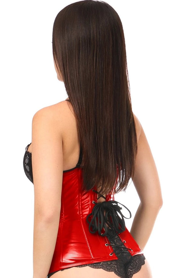 Daisy Corsets Lavish Red Wet Look Under Bust Corset
