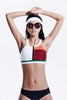 Bellatrix Color Block Sports Bra Top - My Luxury Intimates