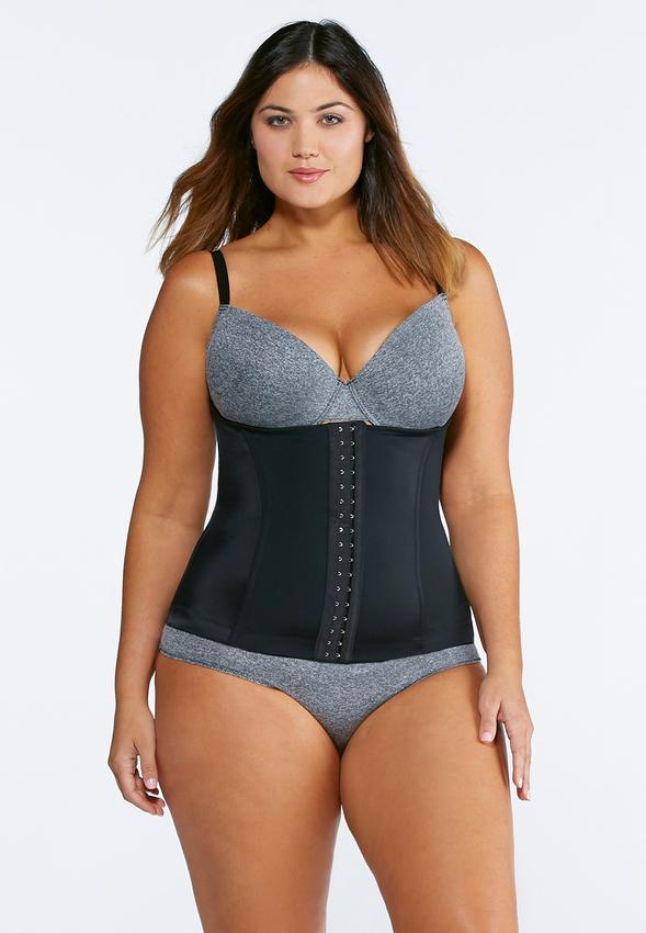 Plus Size Black Fajas Reductoras Latex Waist Trainer to 5XL - My Luxury Intimates