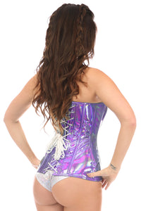 Lavender Holo Top Drawer Overbust Corset