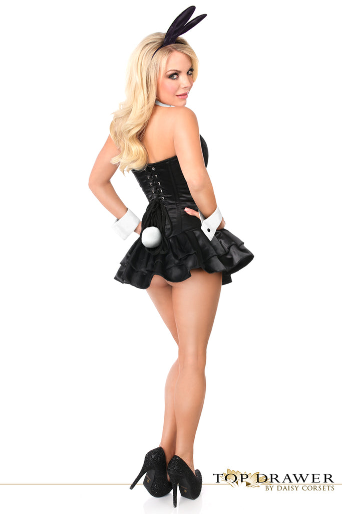 Top Drawer Playful Bunny Steel Boned Corset Dress Costume - My Luxury Intimates
